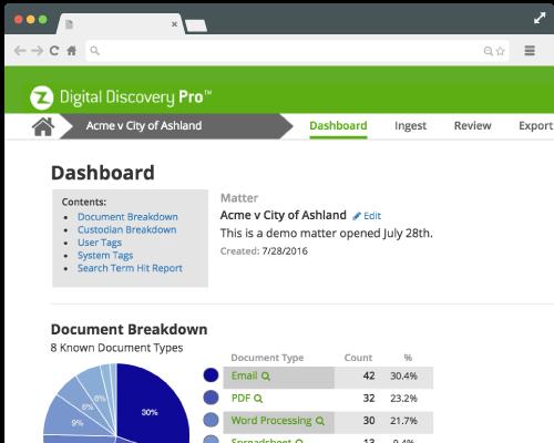 Digital Discovery Pro Product Screenshot