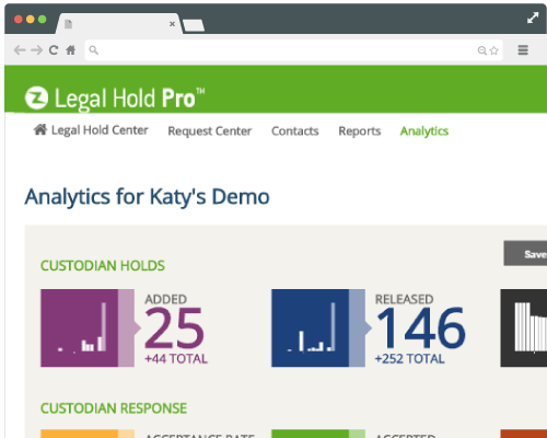 Legal Hold Pro Product Screenshot