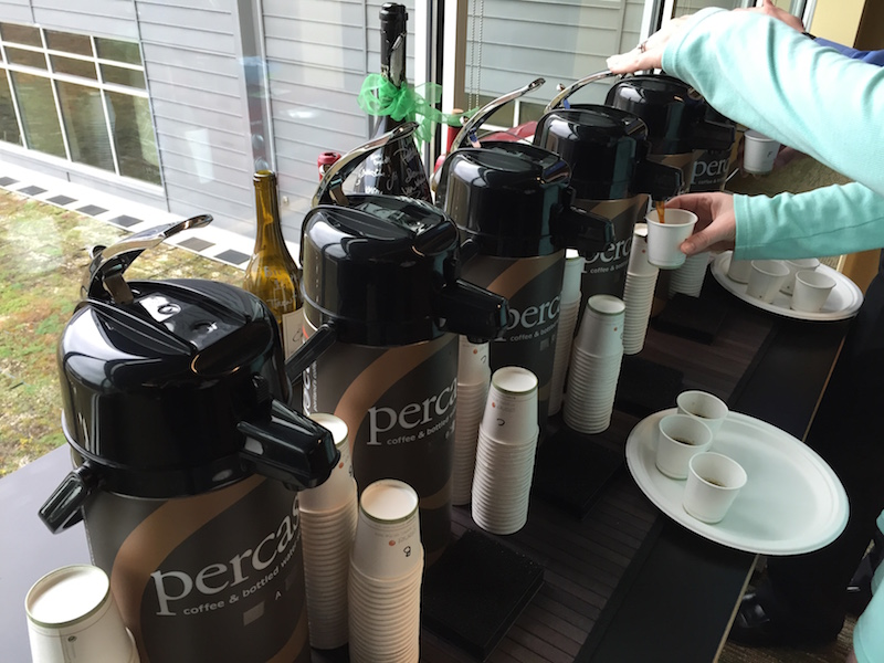 Coffee tasting choices at the ready!