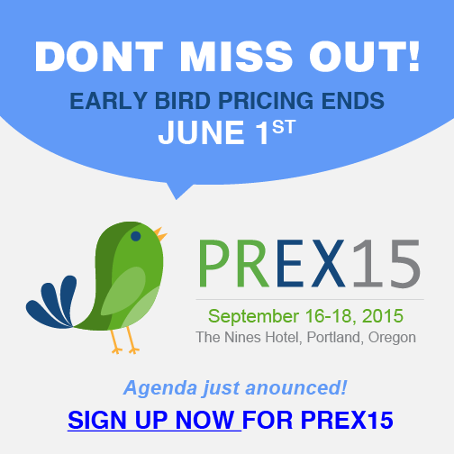 PREX15 Agenda and Earlybird
