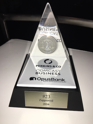 Zapproved #23 of Portland Business Journal Fastest Growing Private Companies