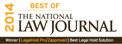 Legal Hold Pro Voted 'Best of The National Law Journal 2014′