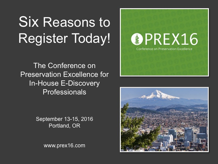 Six Reasons to Register Today for PREX