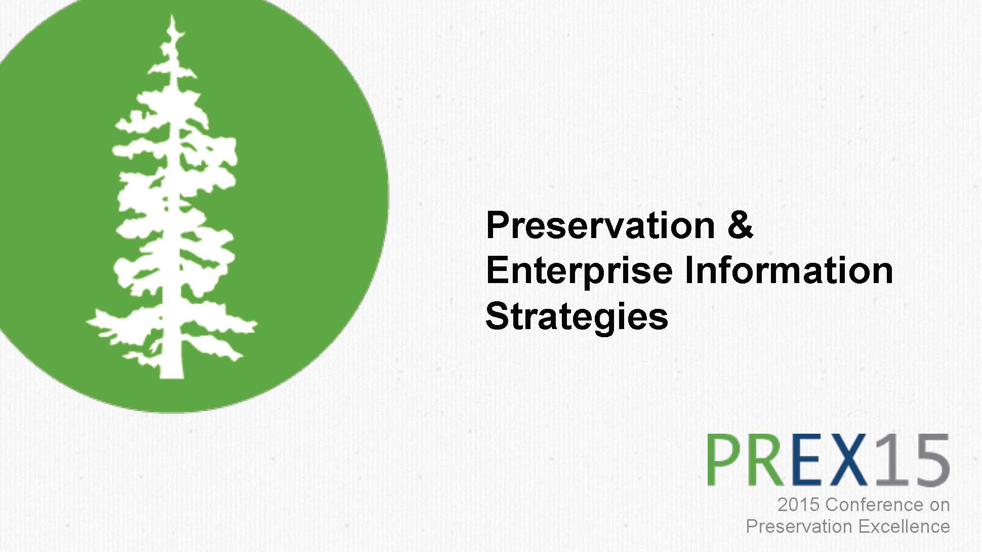 Preservation and Enterprise Information Strategies