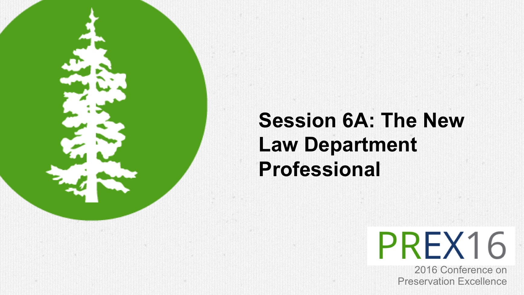 The New Law Department Professional