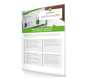 Digital Discovery Pro can help you process and review discovery data. Download Data Sheet for More Information.