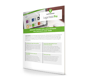 Legal Hold Pro can help you take control of preservation. Download Data Sheet for More Information.