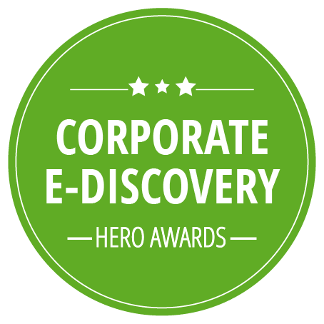 Corporate E-Discovery Hero Awards, presented by Zapproved logo