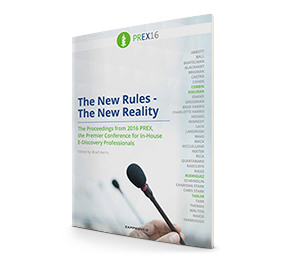PREX16 Proceeding: The New Rules - The New Reality brought to you by Zapproved