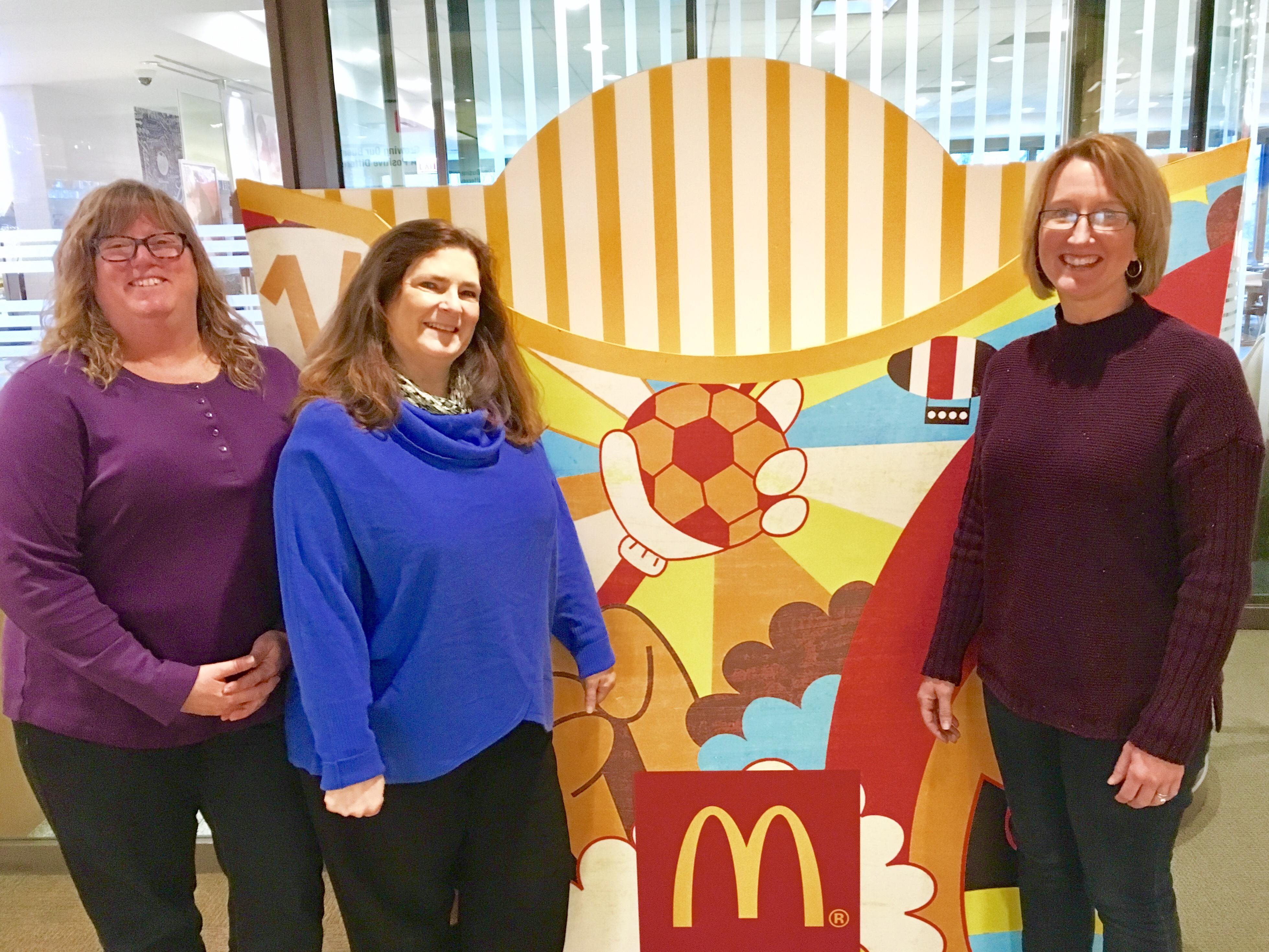 Commercial Litigation Practice Group, McDonald's Corporation. Pictured left to right: Sharyl Tamssot, Sue Stopka, Diane Diaz