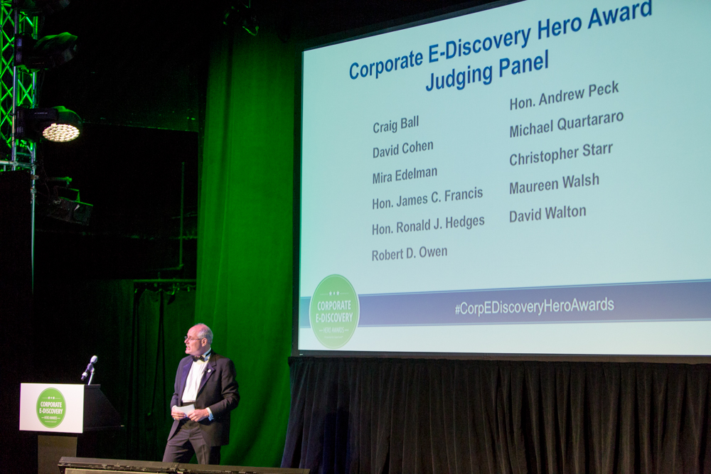 2017 Corporate E-Discovery Hero Award Judging Panel