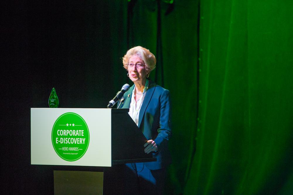 Zapproved Corporate Ediscovery Hero Awards Lifetime Achievement Shira Scheindlin