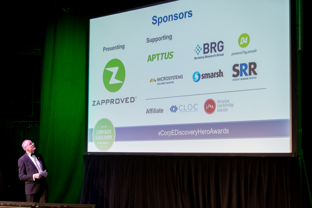 2017 Corporate E-Discovery Hero Award Supporting and Affiliate sponsors.
