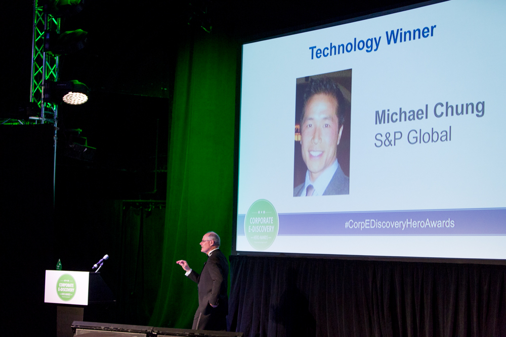 Michael Chung of S&P Global Won the Corporate E-Discovery Hero Award for Technology