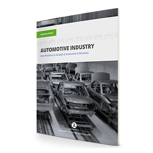 Ediscovery for Automotive Manufacturers