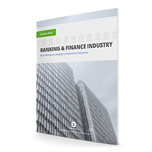 Ediscovery for Banking & Financial Services