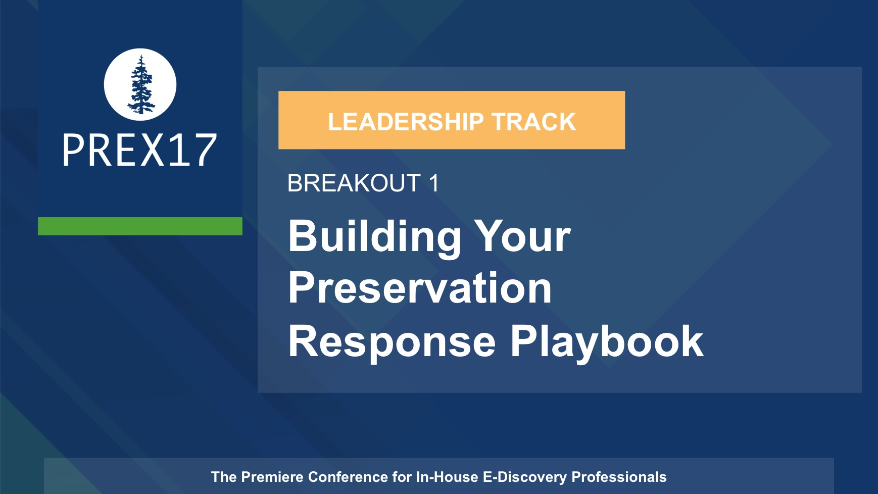 (Breakout 1 - Leadership) Building Your Preservation Response Playbook