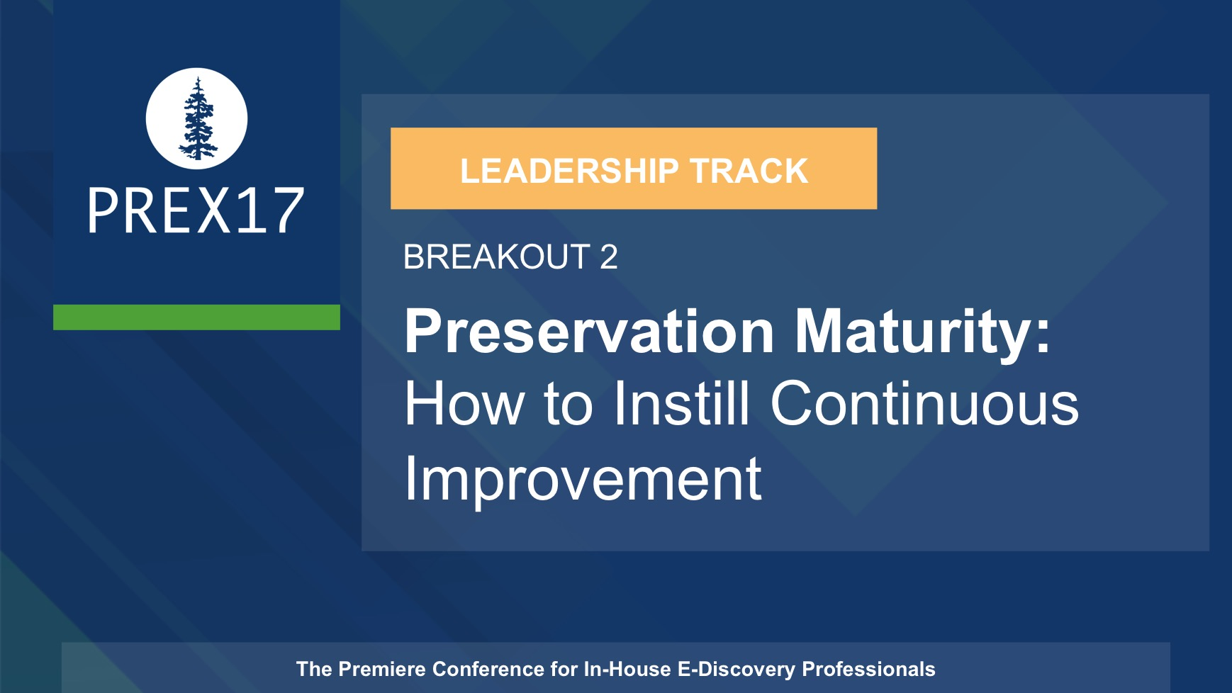(Breakout 2 - Leadership) Preservation Maturity: How to Instill Continuous Improvement