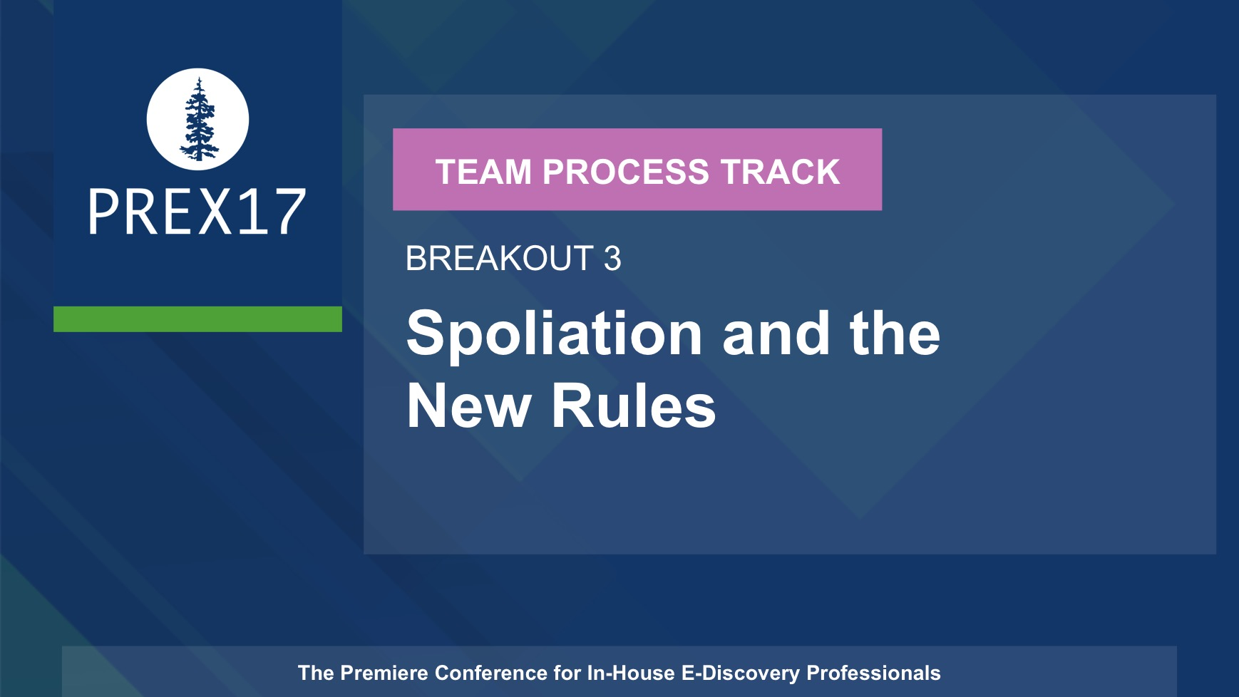 (Breakout 3 - Team Process) Spoliation and the New Rules