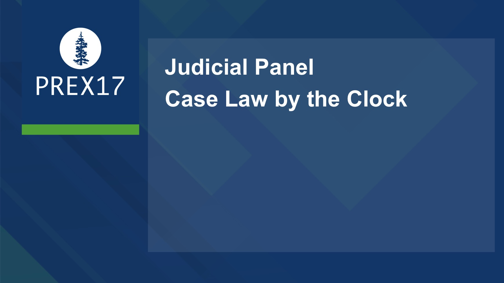 Judicial Panel: Return of Case Law by the Clock!