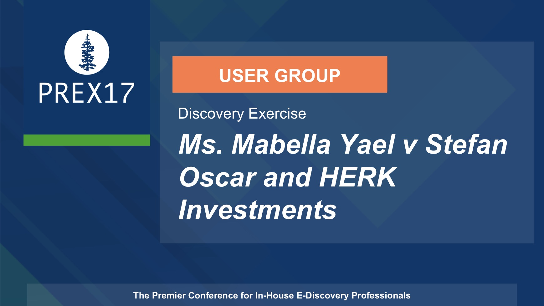 User Group (Discovery Exercise) Ms. Mabella Yael v Stefan Oscar and HERK Investments