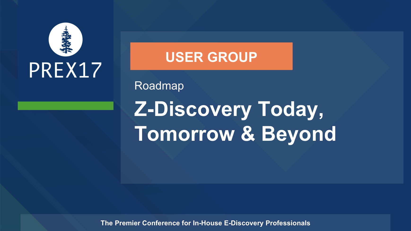 USER GROUP (Roadmap) Z-Discovery Today, Tomorrow & Beyond