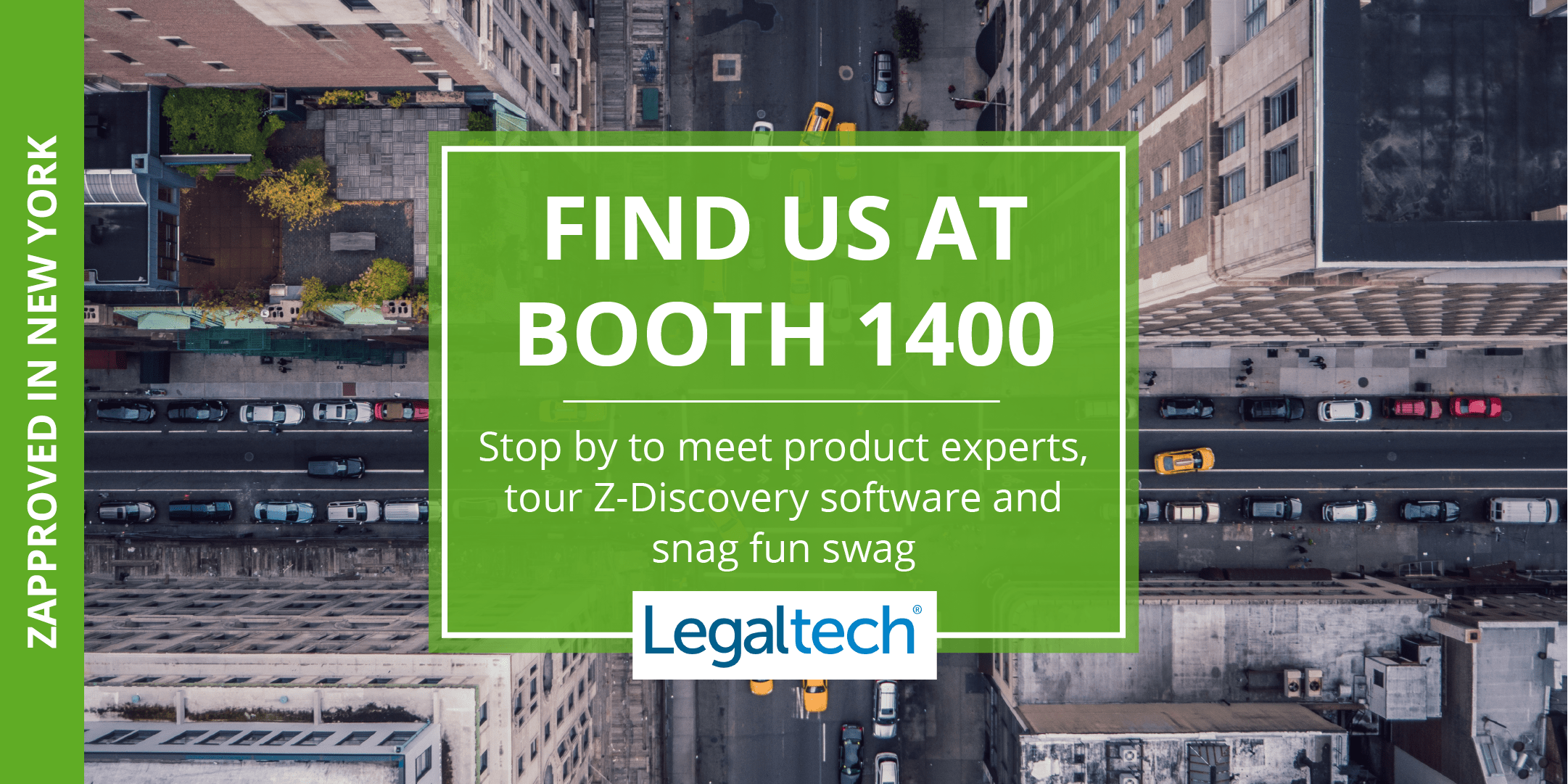 Legal Tech New York 2018 Zapproved Booth Invitation