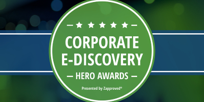 Corporate Ediscovery Hero Awards Logo from 2018