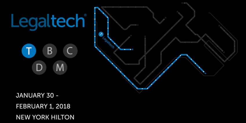 Legaltech 2018 Conference Graphic showing the train line