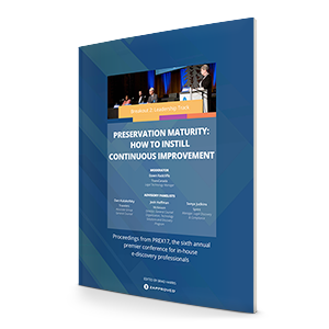 Preservation Maturity: How to Instill Continuous Improvement