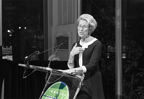 Hon. Shira Scheindlin presenting at the 2018 Corporate Ediscovery Hero Awards