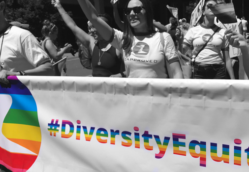 Zapproved marches in 2018 Portland Pride Parade, June 2018