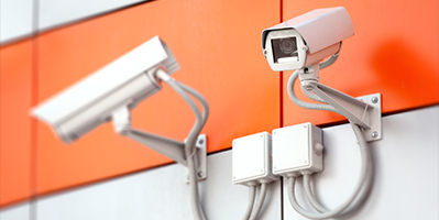 Surveillance cameras within a retail store which represent the importance of preserving critical evidence