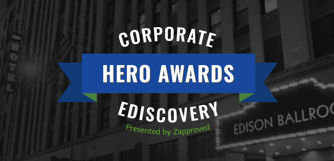 Corporate Ediscovery Hero Awards logo