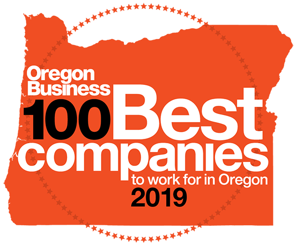 100 best companies to work for in 2019 in oregon by oregon business logo