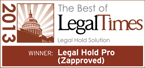 Legal Hold Pro Wins 'Best of Legal Times 2013′