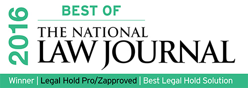 Legal Hold Pro Voted 'Best of The National Law Journal 2016′