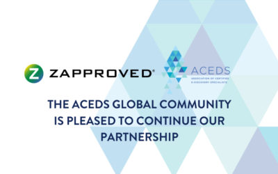ACEDS Announces Zapproved Renews as Affiliate Partner