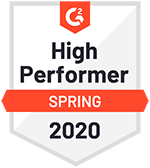 High Performer Spring 2020 Badge from G2