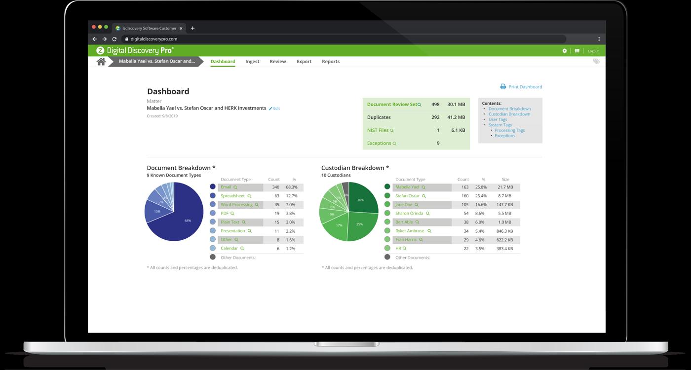 Digital Discovery Pro Screenshot in a laptop
