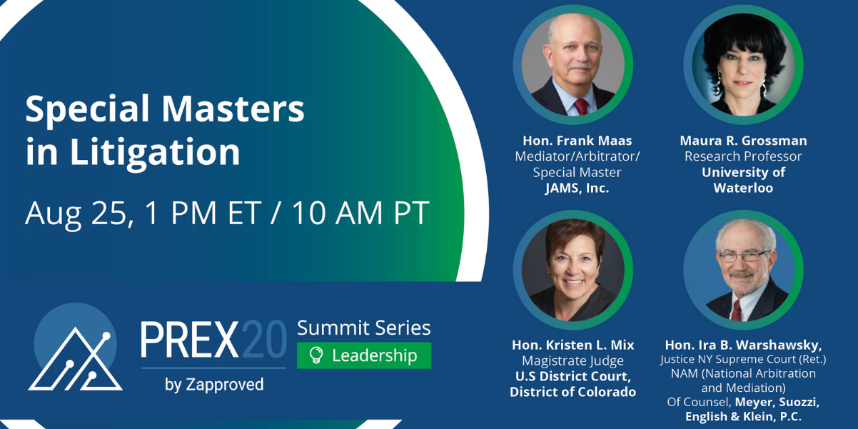 PREX Summit Series: Special Masters in Litigation