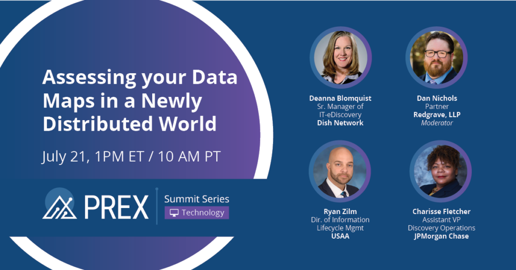 PREX Summit Series: Assessing Data Maps in a Newly Distributed World