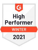 G2 High Performer Winter 2021 Badge - Zapproved