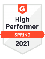 G2 High Performer Spring 2021 Badge - Zapproved