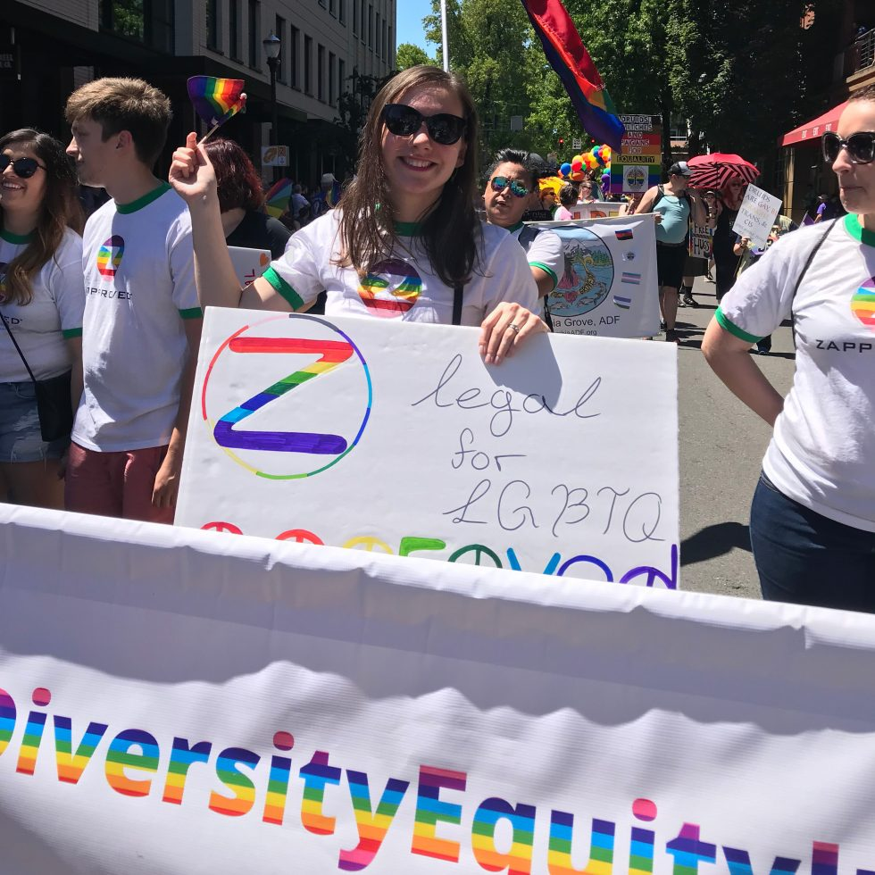 Zapproved Employees at the Pride Parade