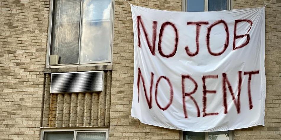 No Jobs No Rent Sign