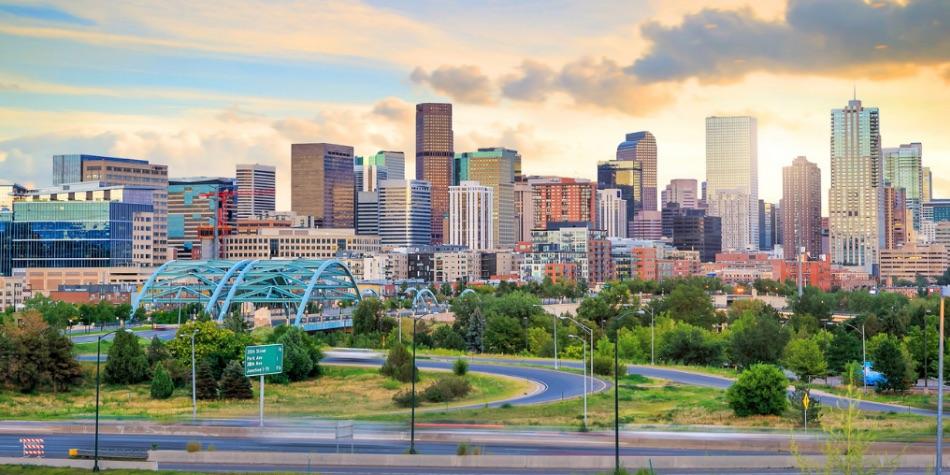 Colorado city skyline