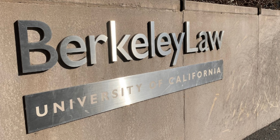 Berkeley Law University of California sign